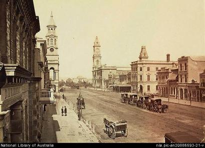 King_william_street,_Adelaide_1889