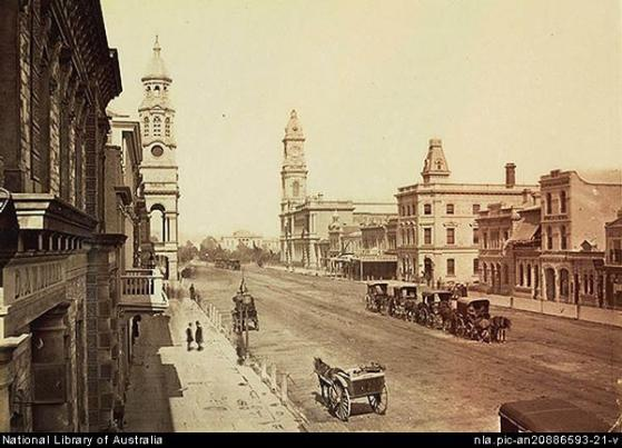 King_william_street,_Adelaide_1889