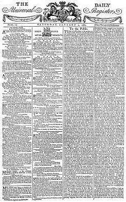 the times  first edition