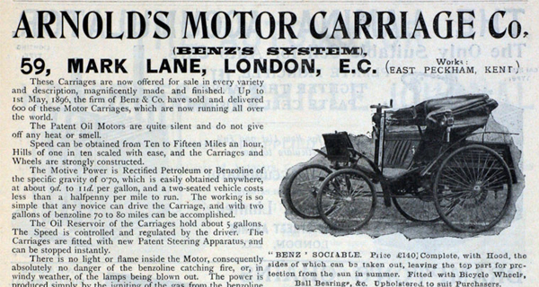 January 28 1896 World S First Speeding Fine The Street And The City