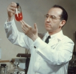 J.Salk in his lab