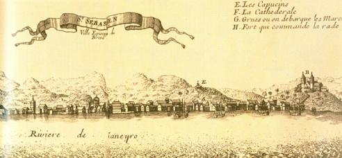 São Sebastião do Rio de Janeiro, Anônimo, c. 1695 Biblioteca Nacional (Brasil)