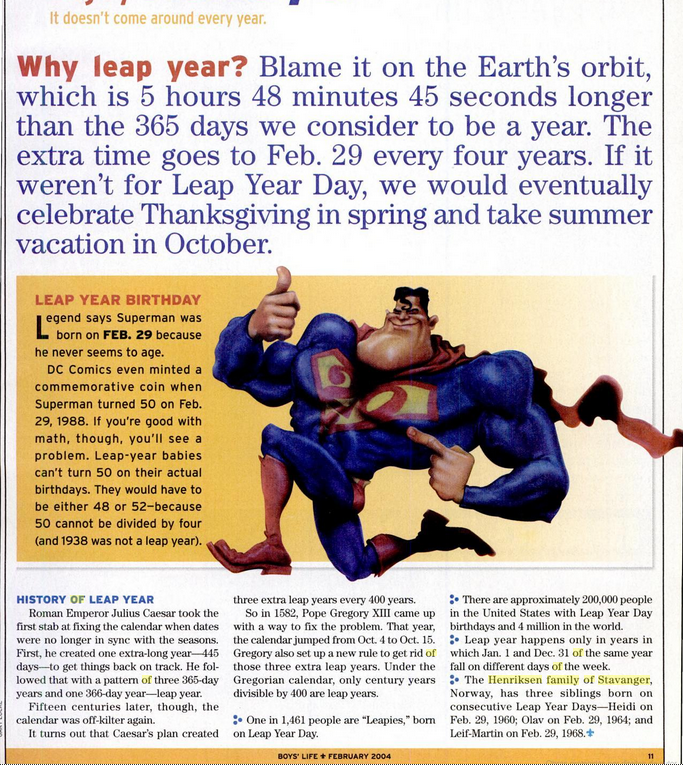 February 29: Leap (Year) Day