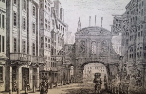 Fleet street in the 18th Century