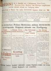 About Houdini's feats in a German paper