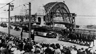 parade at the official opening of the Harbour Bridge on March 19, 1932
