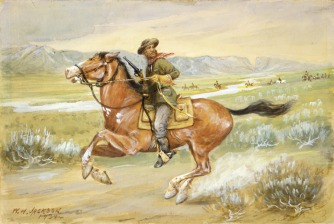 Pony Express Rider, William Henry Jackson