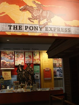 The Pony Express exhibit in the National Postal Museum