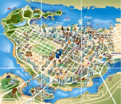 Downtown Vancouver illustrated